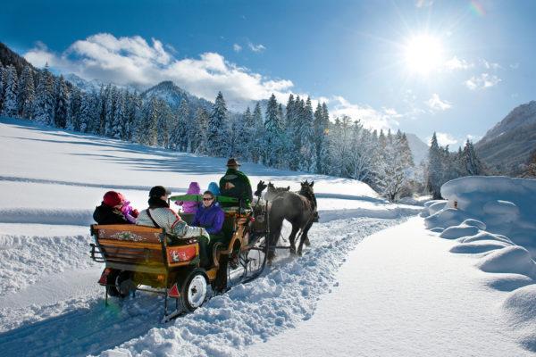 Ferien Kleinarlr Pferdeschlittenfahrt